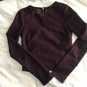 Plum Cropped Long Sleeve